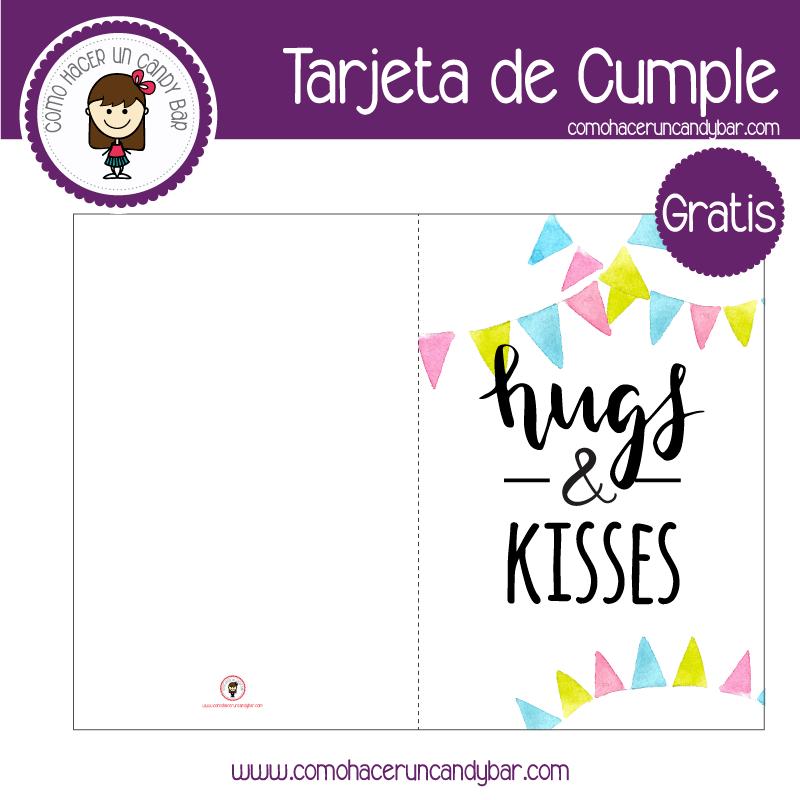 tarjeta de cumpleaños banderines Tarjeta de cumpleaños para descargar gratis