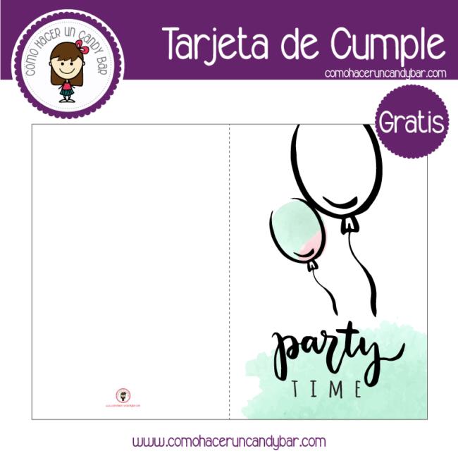 Tarjeta de cumpleaños globo para descargar gratis