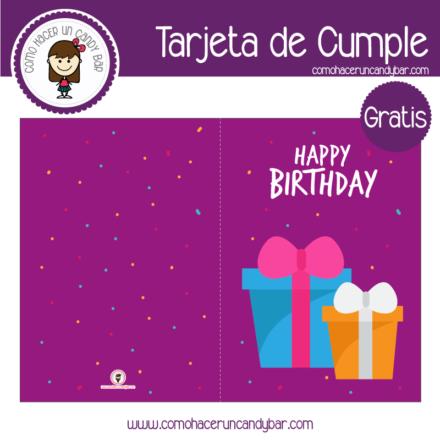 Tarjeta de cumpleaños regalitos para descargar gratis