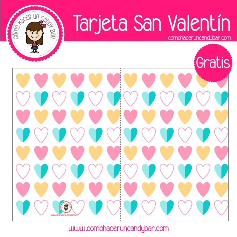 Tarjeta de san valentin corazones para descargar gratis