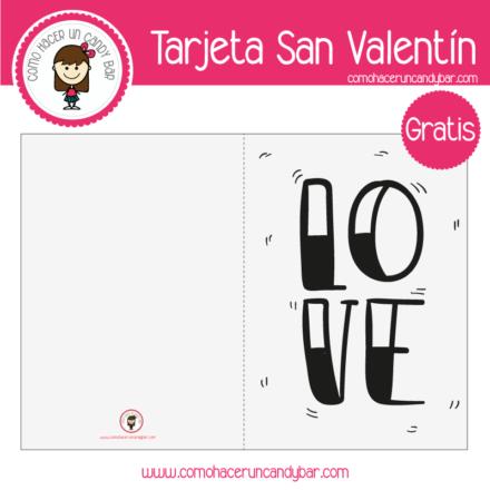 Tarjeta de san valentin love para descargar gratis