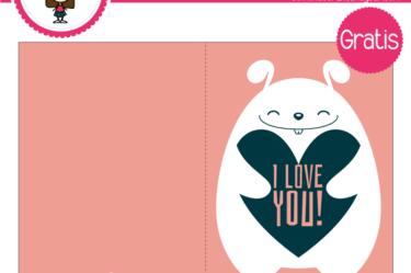 Tarjeta de san valentin oso para descargar gratis