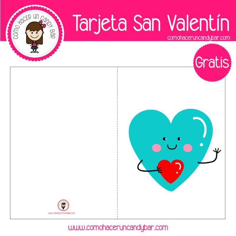 Tarjeta de san valentin amor para descargar gratis