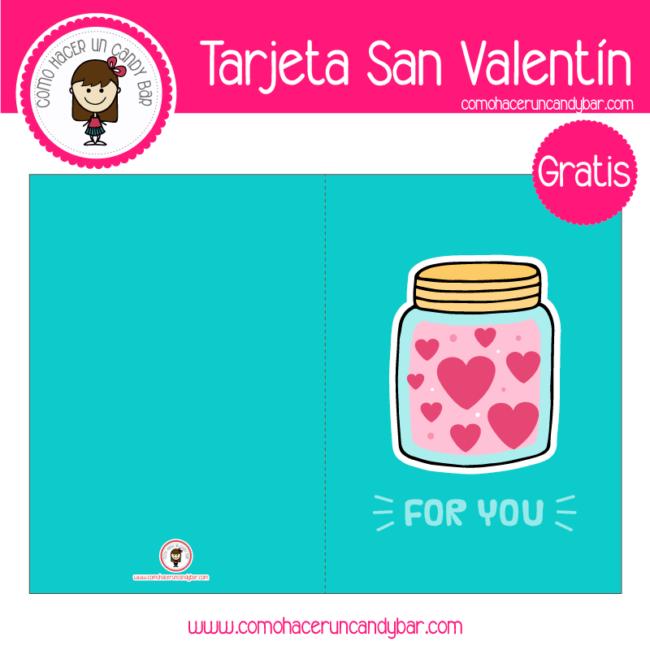 Tarjeta de san valentin frasco cute para descargar gratis