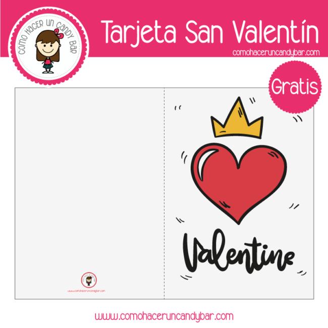 Tarjeta de san valentin corazon para descargar gratis