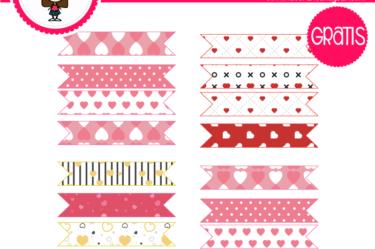 banderines de san valentin para descargar gratis