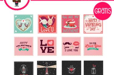 Sticker de san valentin para descargar gratis