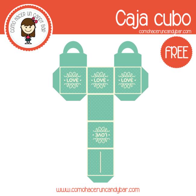 Cajita del día de la madre cubo para descargar gratis