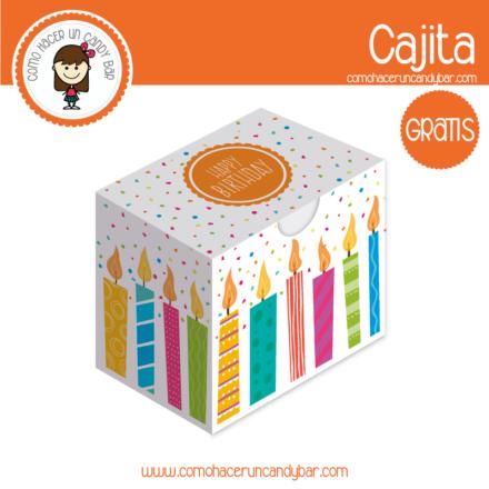 Cajita de velas de cumple para descargar gratis