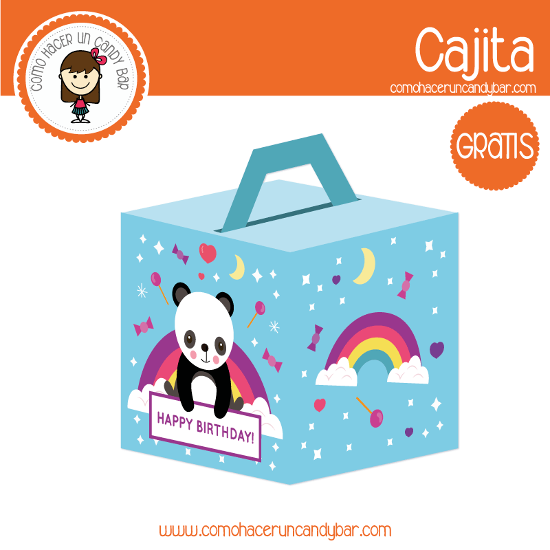 Cajita de panda para descargar gratis