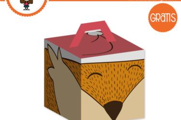 Imprimible Cajita de zorro para descargar gratis