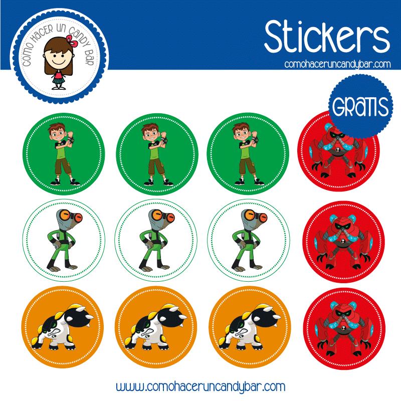 Stickers para descargar gratis de Ben 10
