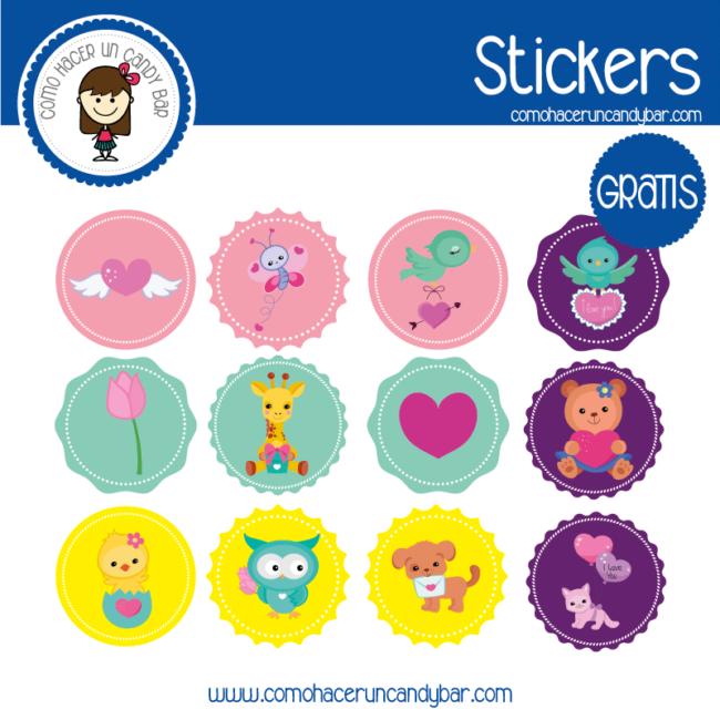 Stickers para descargar gratis de baby shower niña