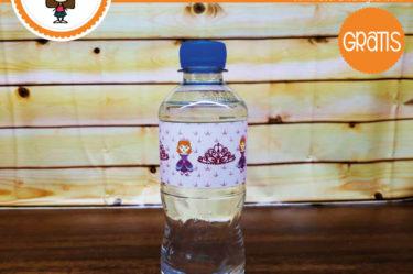 Imprimible Stickers para botella de princesa para descargar gratis