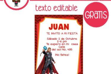 Invitación de thor avengers para descargar gratis