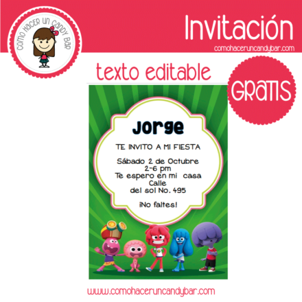 Invitación de jelly jamm para descargar gratis