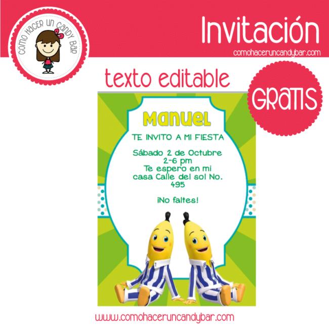 Invitación Editable Gratis Bananas En Pijamas Kits