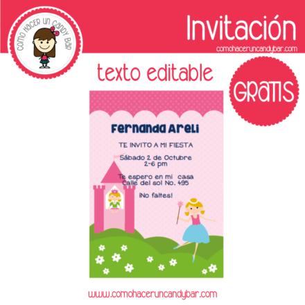 Invitación de hada para descargar gratis
