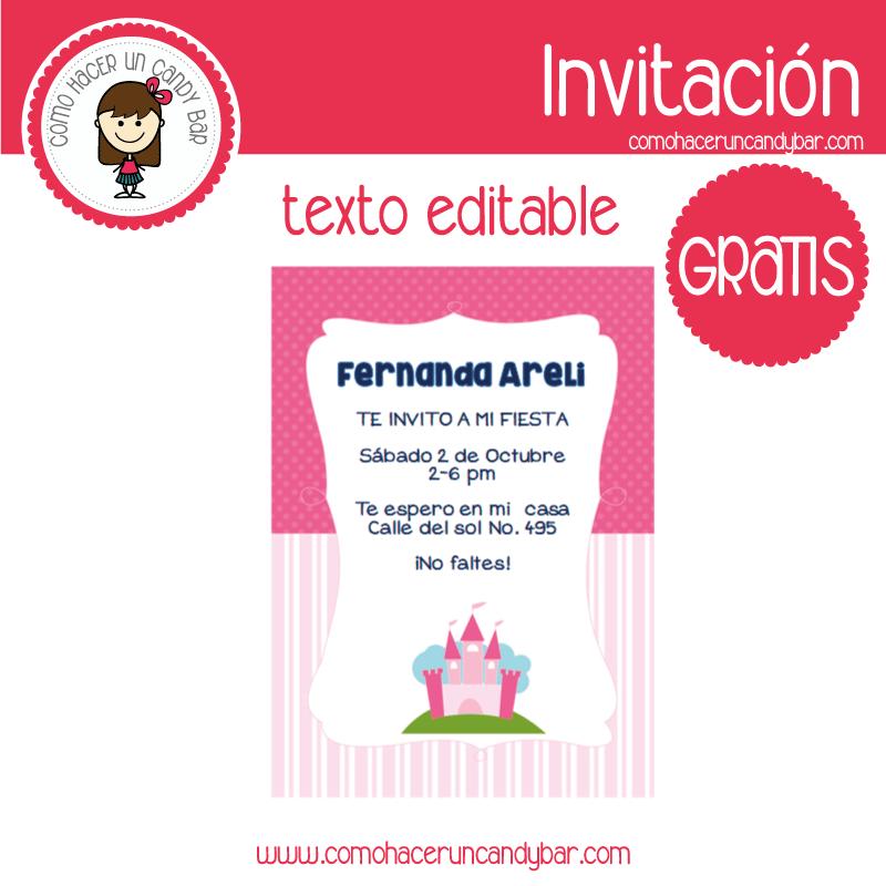 Invitación de Castillo para descargar gratis