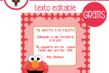 Invitación de Elmo para descargar gratis