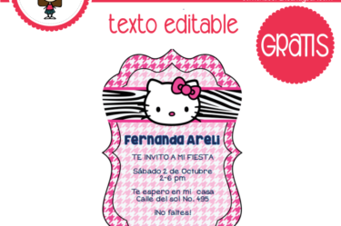 Invitación de hello kitty 5 para descargar gratis