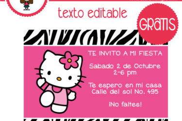 Invitación de hello kitty 4 para descargar gratis