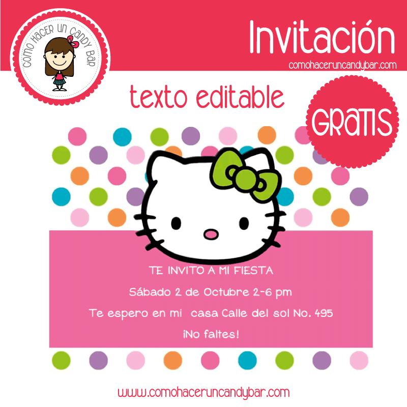 Invitación de hello kitty 2 para descargar gratis