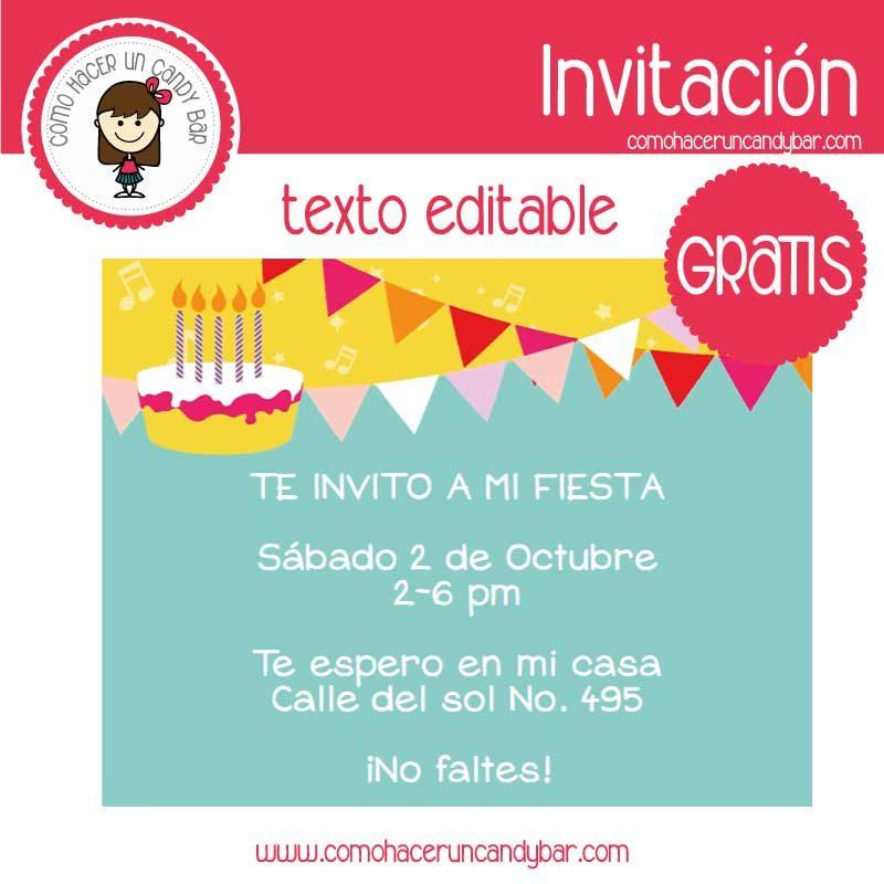 Invitación de cumpleaños para descargar gratis