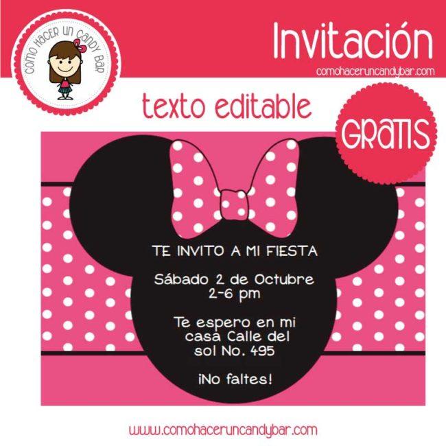 Minnie Archivos Kits Imprimibles Para Fiestas Gratis