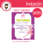 Invitación de ratoncita angelica para descargar gratis