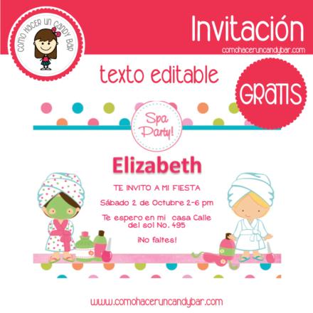 Invitación de spa 2 para descargar gratis