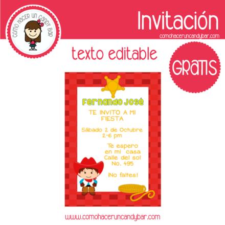Invitación de Vaquero para descargar gratis