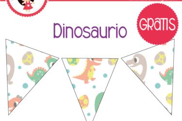 banderin dinosaurio bebe para imprimir