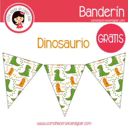 banderin dinosaurio bebe para imprimir 2