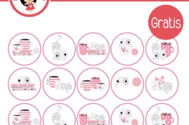 Etiquetas para imprimir de gatitos gratis