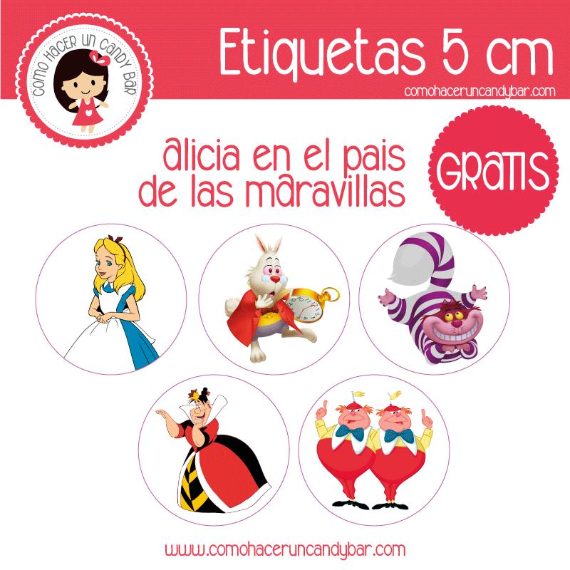 Etiquetas de Alicia en el Pais de las Maravillas - Imprimibles ...