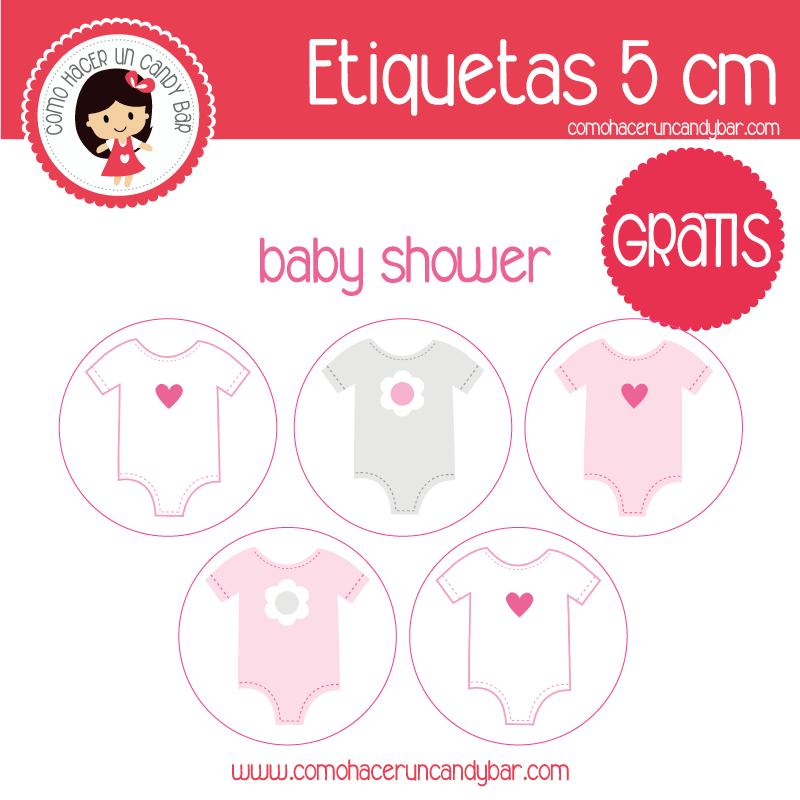 etiquetas baby shower para imprimir