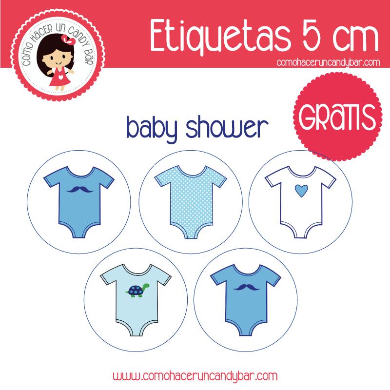 etiquetas baby shower boy para imprimir