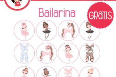etiquetas de bailarina para imprimir