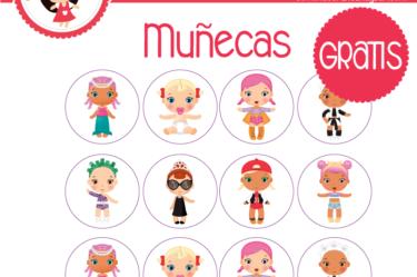 Etiquetas para imprimir de muñecas gratis