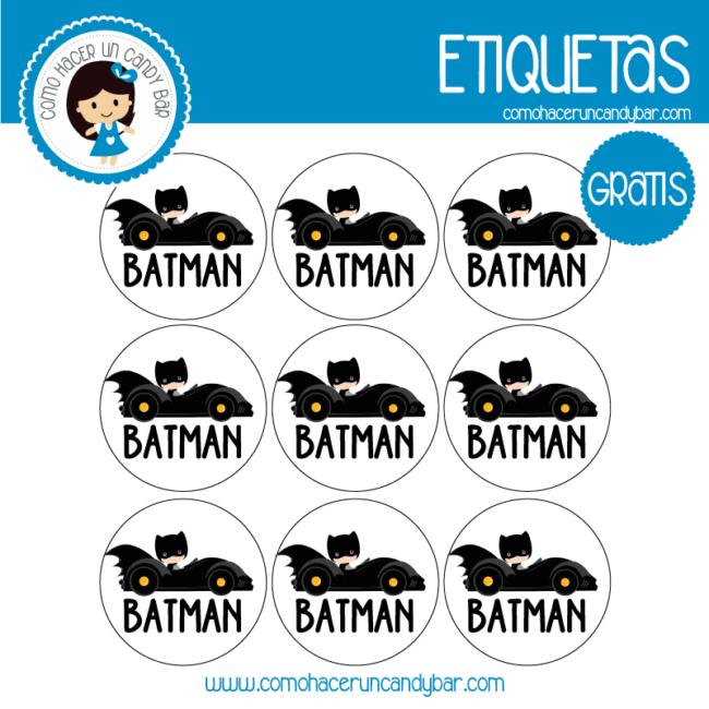 Batman etiqueta imprimible