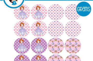 Princesa Sofia etiqueta para descargar gratis