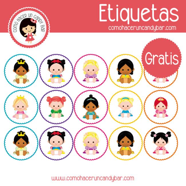 Princesas Baby: Etiquetas para imprimir - Imprimibles GRATIS para ...