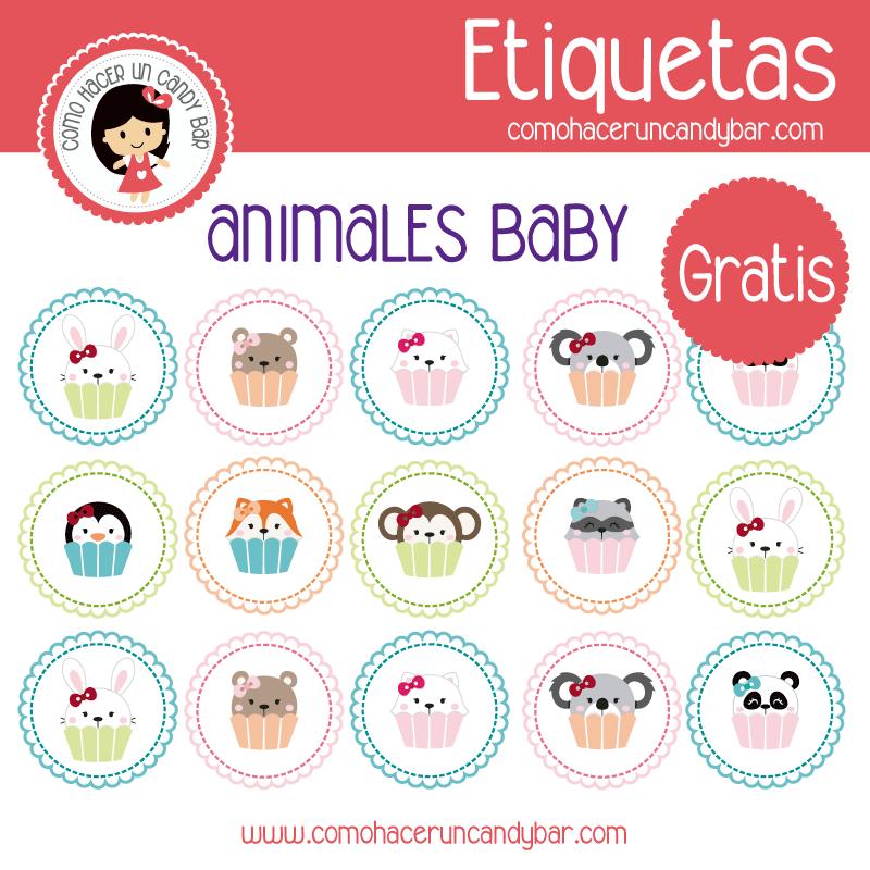 Animalitos Baby: Etiquetas Para Imprimir