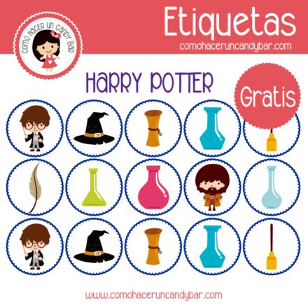 Etiquetas para imprimir gratis de harry potter