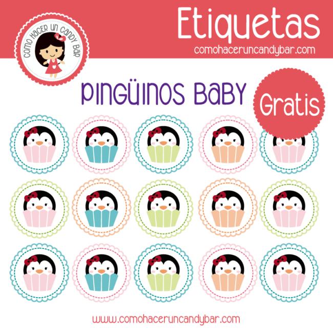 Pingüinos Baby: Etiquetas para imprimir - Imprimibles GRATIS para ...