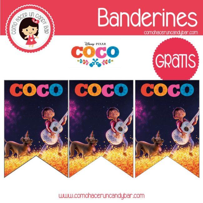 Coco De Pixar Banderin Para Imprimir Kits Imprimibles Para