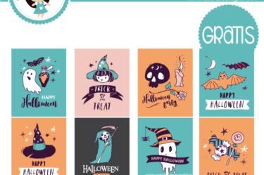 Etiquetas para imprimir de halloween