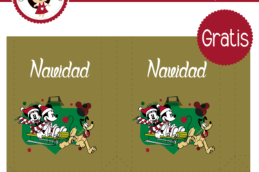 Bolsita para imprimir gratis de Mickey navidad