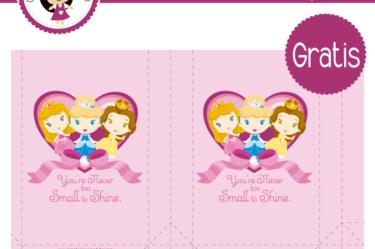 Bolsita para imprimir gratis de Princesas